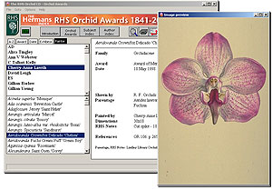 RHS Orchids CD-ROM screenshot